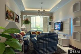简约客厅电视背景墙造型装修效果图大全2013图片
