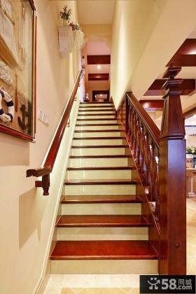 别墅实木楼梯装修效果图欣赏