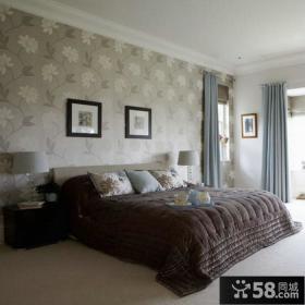 现代时尚卧室壁纸装修效果图