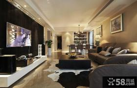 小房子客厅电视背景墙装修效果图