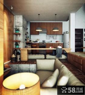 现代简约风格客厅设计实景图