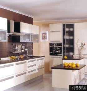 欧式现代半开放式厨房装修效果图大全2013图片