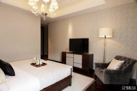 现代家装设计卧室电视背景墙图片