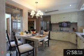 开放式厨房餐厅一体装修设计