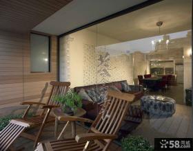日式家庭阳台设计图