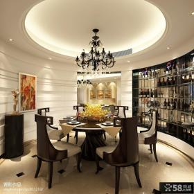 欧式餐厅圆形吊顶装修效果图大全图片