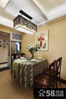 中式家庭餐厅装修设计