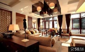 中式小别墅客厅装修效果图
