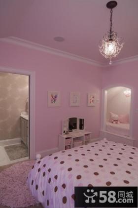 三室两厅欧式风格粉色卧室吊顶装修效果图大全2012图片