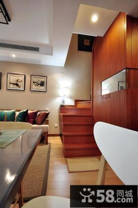 现代中式实木小楼梯设计