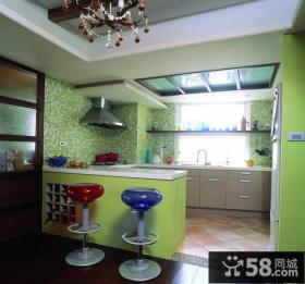 厨房吧台隔断设计效果图欣赏