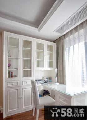 纯白简约家居书房设计
