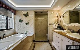 欧式风格别墅浴室大理石墙砖图片