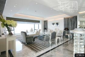 欧式风格复式楼客厅大理石地面装修效果图