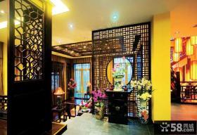 儒雅古典中式玄关装饰