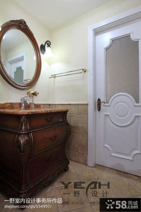美式小卫生间门效果图