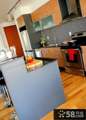 美式乡村风格厨房整体橱柜家居效果图