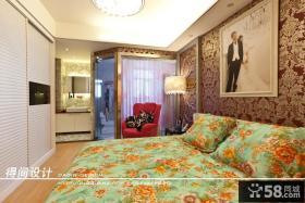 现代风格卧室壁纸背景墙设计效果图欣赏