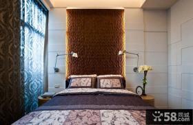 现代卧室床头背景墙装修效果图大全