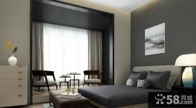 极简设计别墅室内卧室装饰效果图