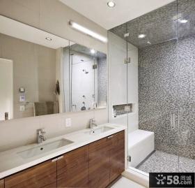 90平米小户型时尚室内卫生间瓷砖效果图