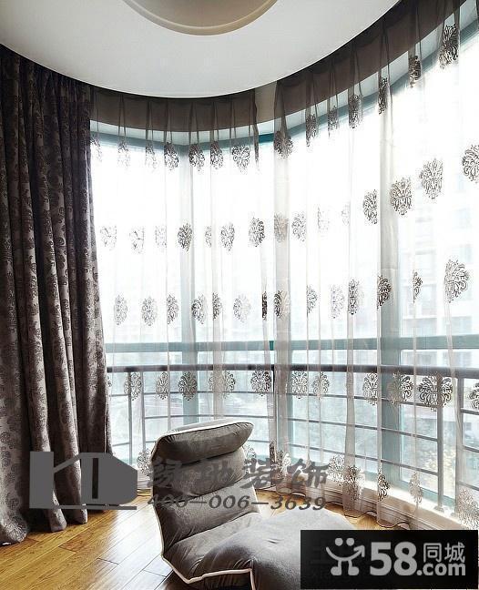 阳台窗帘装修效果图大全2015图片
