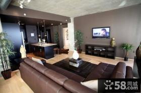 17万打造温馨奢华地中海风格二居客厅电视背景墙装修效果图大全2012图片