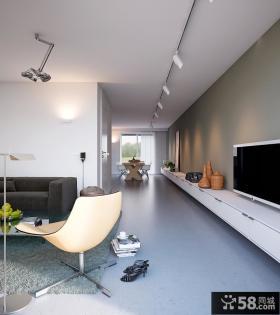 简约家装客厅电视机背景墙效果图