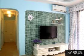 田园风格客厅电视背景墙装修效果图片