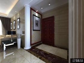 玄关马赛克瓷砖背景墙效果图欣赏