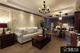 美式乡村风格客厅装修效果图片欣赏