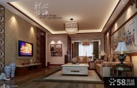 现代中式装修风格电视墙