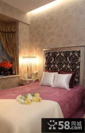 欧式风格卧室墙壁纸装修效果图