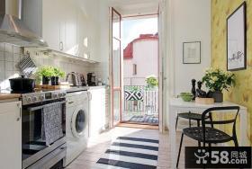 家庭阳光厨房装修效果图片