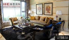 新古典风格客厅沙发背景墙装修效果图