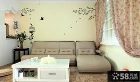 家装室内客厅沙发背景墙手绘效果图