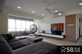 现代简约空间客厅背景墙装修效果图大全
