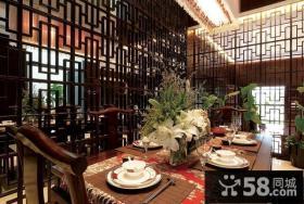 中式古典别墅餐厅隔断装修效果图大全