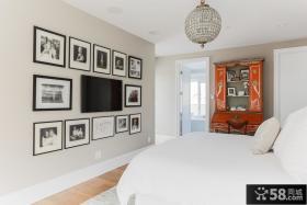 现代卧室电视墙效果图大全