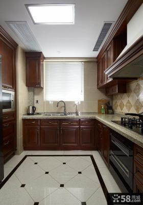 欧式复古厨房室内设计装饰效果图