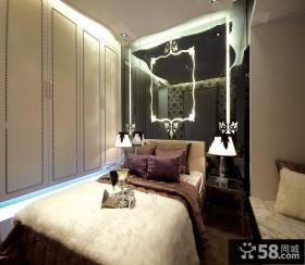 欧式风格卧室床头背景墙装修效果图大全