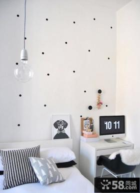 卧室墙纸效果图片