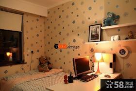 温馨儿童卧室壁纸装修效果图
