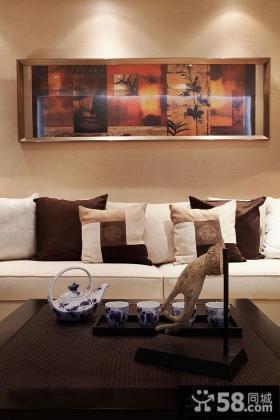 客厅沙发装饰画效果图片