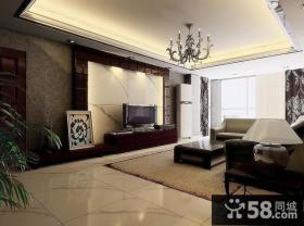 客厅电视背景墙室内装潢设计图片