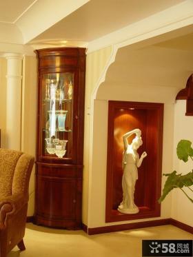 欧式别墅室内雕塑装饰图片