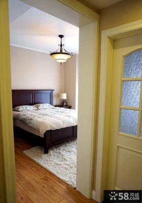 美式风格装修卧室门口装修图片