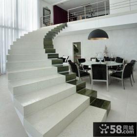 极简主义室内楼梯设计图