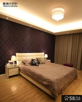 现代卧室壁纸装修效果图大全2013图片