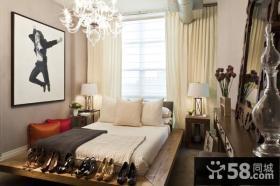 70平小户型美式现代卧室装修效果图